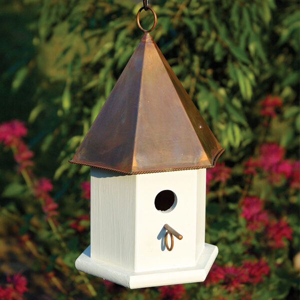 copper top bird houses