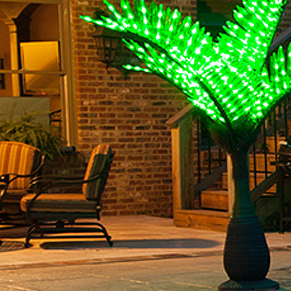 Palm tree patio lights home design inspiration ideas and pictures lighted palm trees u0026 decor mozeypictures Images