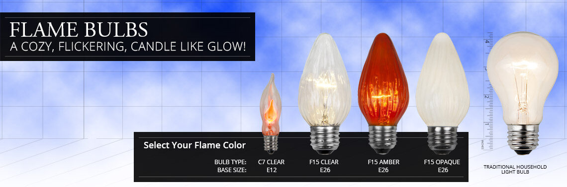flame light bulbs
