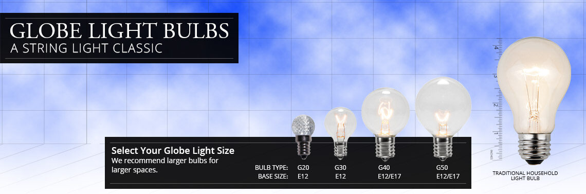 Globe Light Bulb Sizes