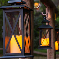 beautiful lighted outdoor hanging decor