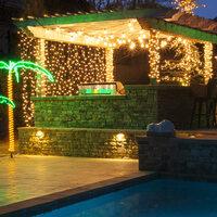 pergola party patio lights ideas