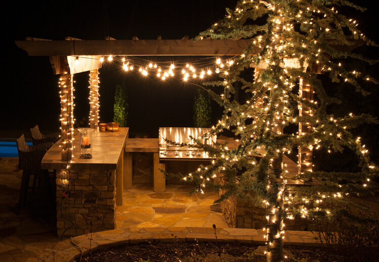 Perk up your party with pergola lighting   yard envy