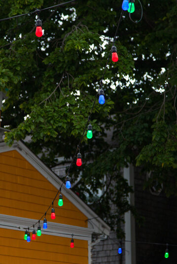 Brighten the backyard fast with colorful party lights!