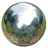 Reflective Gazing Balls Make Smaller Spaces Appear Larger