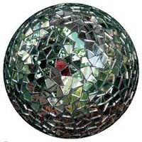 Decorate the garden with a gazing ball! A fast way to accent your outdoor spaces.