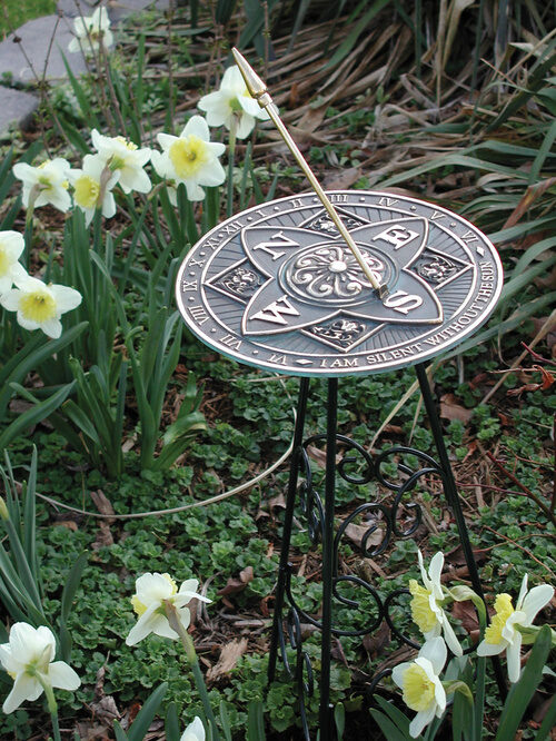 Sundials are a charming addition to the garden and a fast way to decorate too!