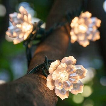 Backyard String Crystal Flower Lights