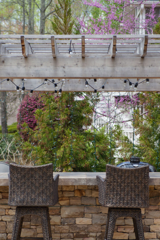 Create a beautiful backyard gathering place with pergola lights!