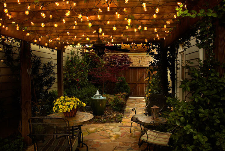Create A Backyard Cafe With Bistro Lights!