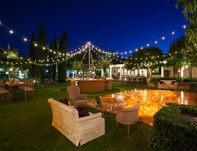Create A Backyard Cafe With Bistro Lights