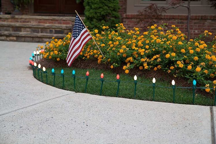 Pathway lights for the Fourth of July