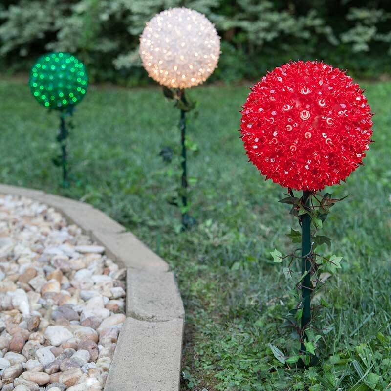 Colorful Starlight Stakes for Walkway and Outdoor Event Lighting
