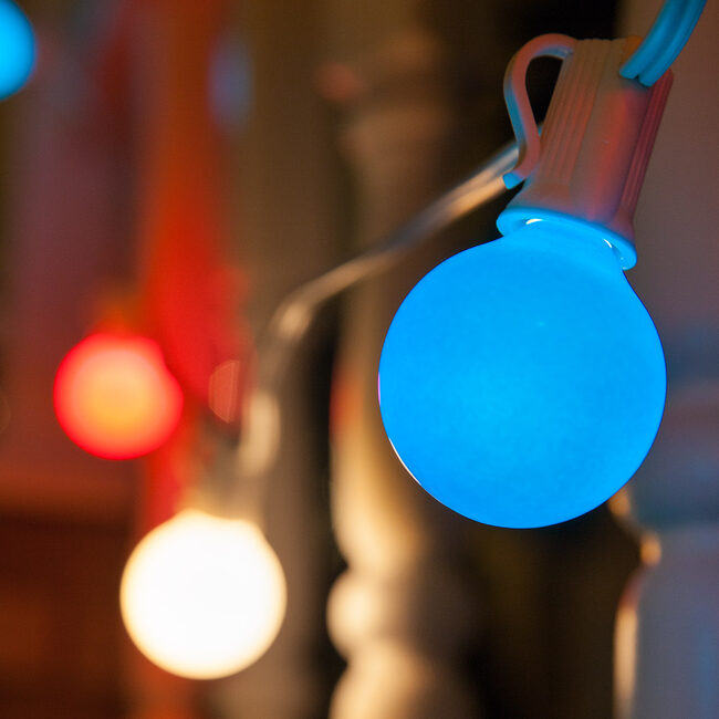 Hang Patriotic Globe Lights for July 4th!