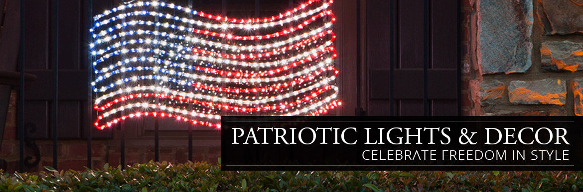 Patriotic Lights & Decor