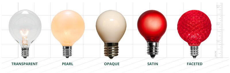 Patio Light Bulb Finish Options