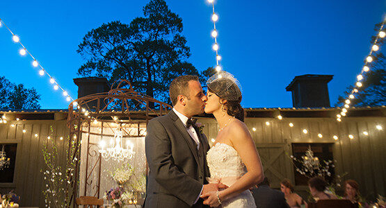Patio String Lights Wedding Decoration