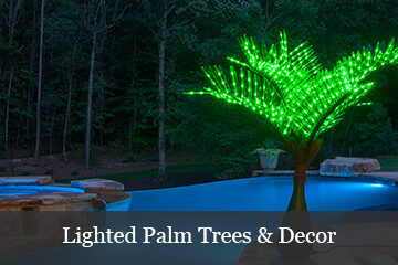 Lighted Artificial Palm Trees  Yard Envy