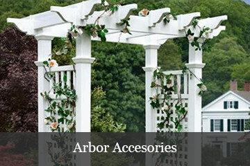 Vinyl arbor accessories