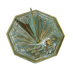 Aged Brass Rose Sundial