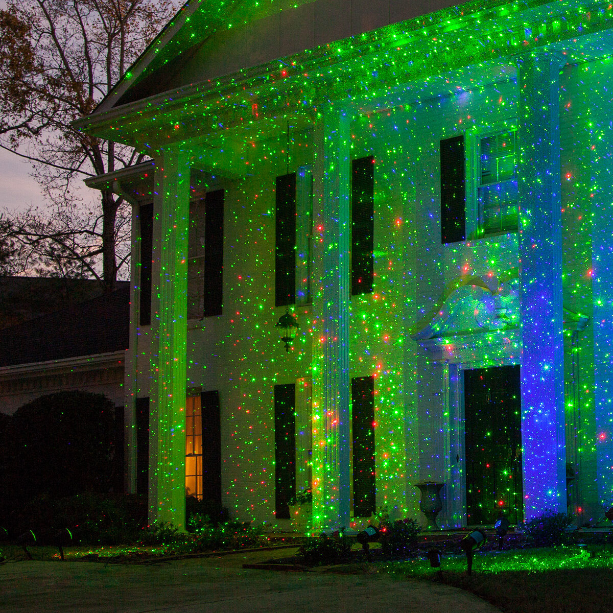 holiday lighting made fast with laser lights