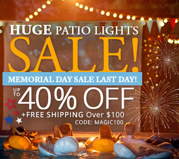 Huge Patio Lights Sale!