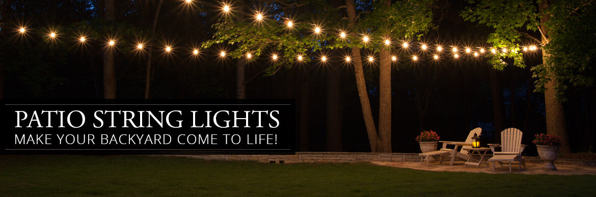 patio string lights - yard envy - Patio String Light Ideas