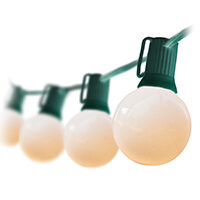 G50 Opaque White Globe String Lights