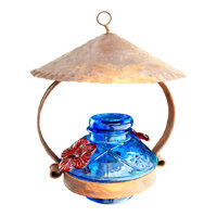 Pot de Creme Glass Hummingbird Feeder