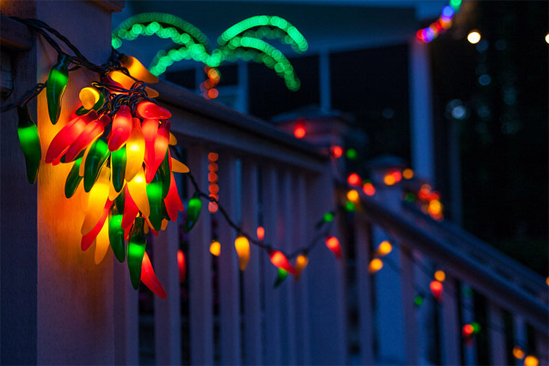 Elegant Chili Pepper String Lights As Outdoor Party Lighting!