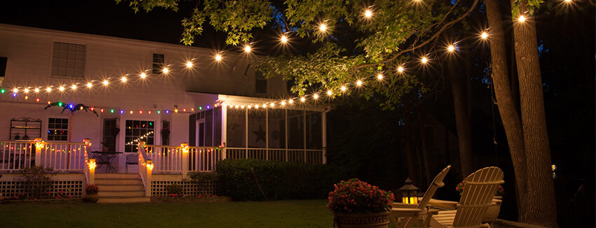 Patio lights yard envy - How to use lights to decorate your patio ...