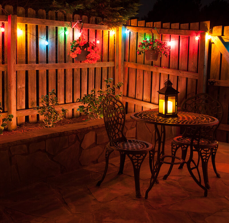 Colorful Backyard Party Lights