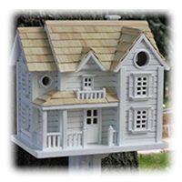 White Decorative Cottage Style Birdhouse