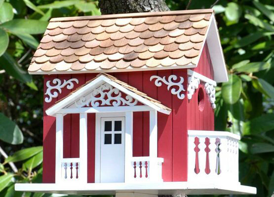 Decorative Swedish Cottage Style Bird House