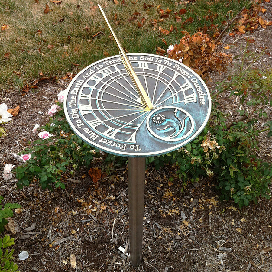 Horizontal Sundial With Incsription