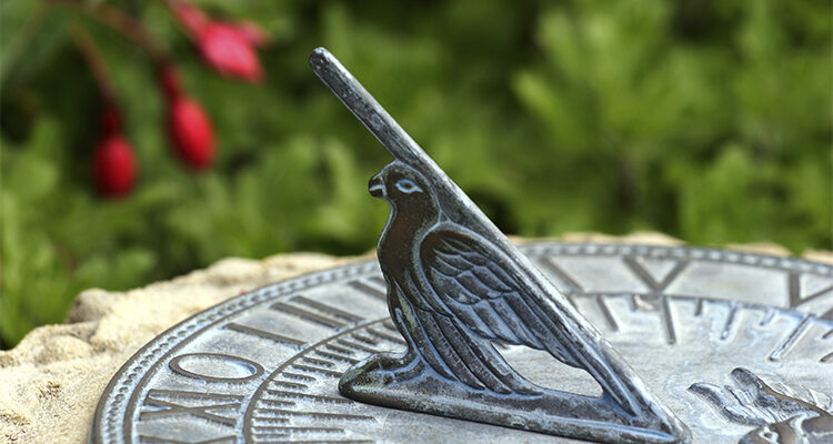 Information on Sundials Including Horizontal and Armillary Sundial Designs.