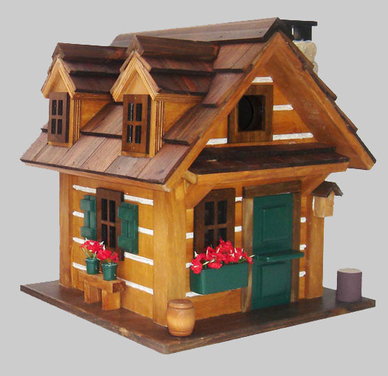 Rustic Retreat Hanging Bird House Cabin