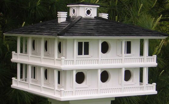 Clubhouse Style Bird House for Purple Martins