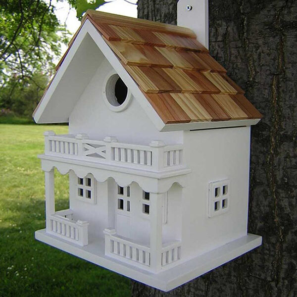 Decorative Two-Story Bird House Chalet