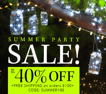 HUGE Summer Party Light Sale!