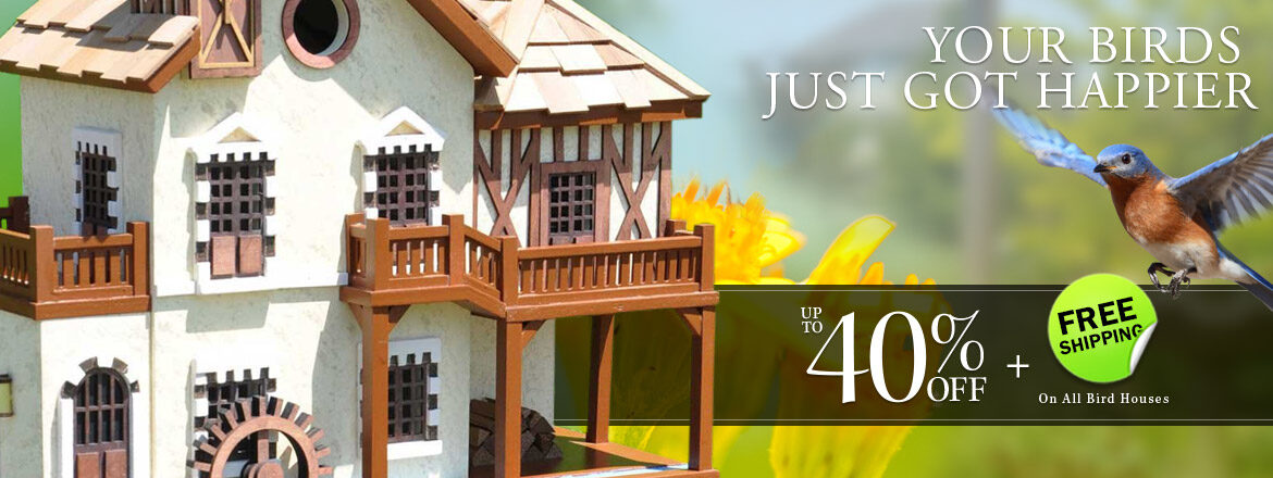 Kick Back and Relax! Bird House Sale!