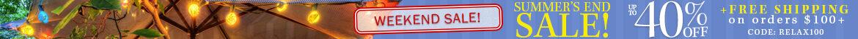 Summer's End Patio Light Sale!
