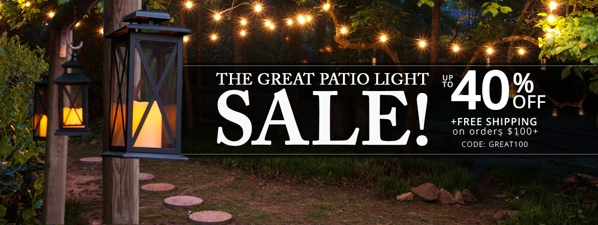 The Great Patio Light Sale!