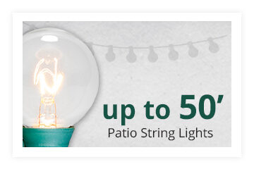 Up to 50 foot patio string lights