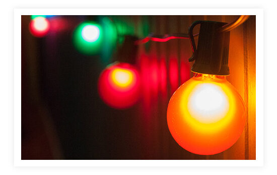 Multicolor Patio String Lights