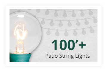 100 Foot Plus Patio String Lights