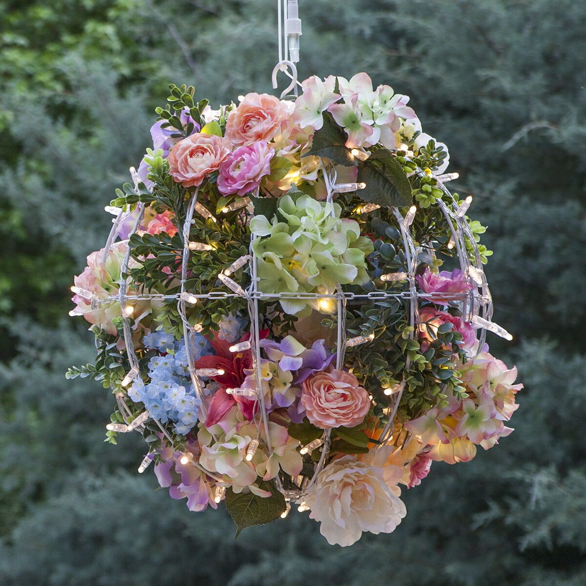 Hanging Flower Light Ball