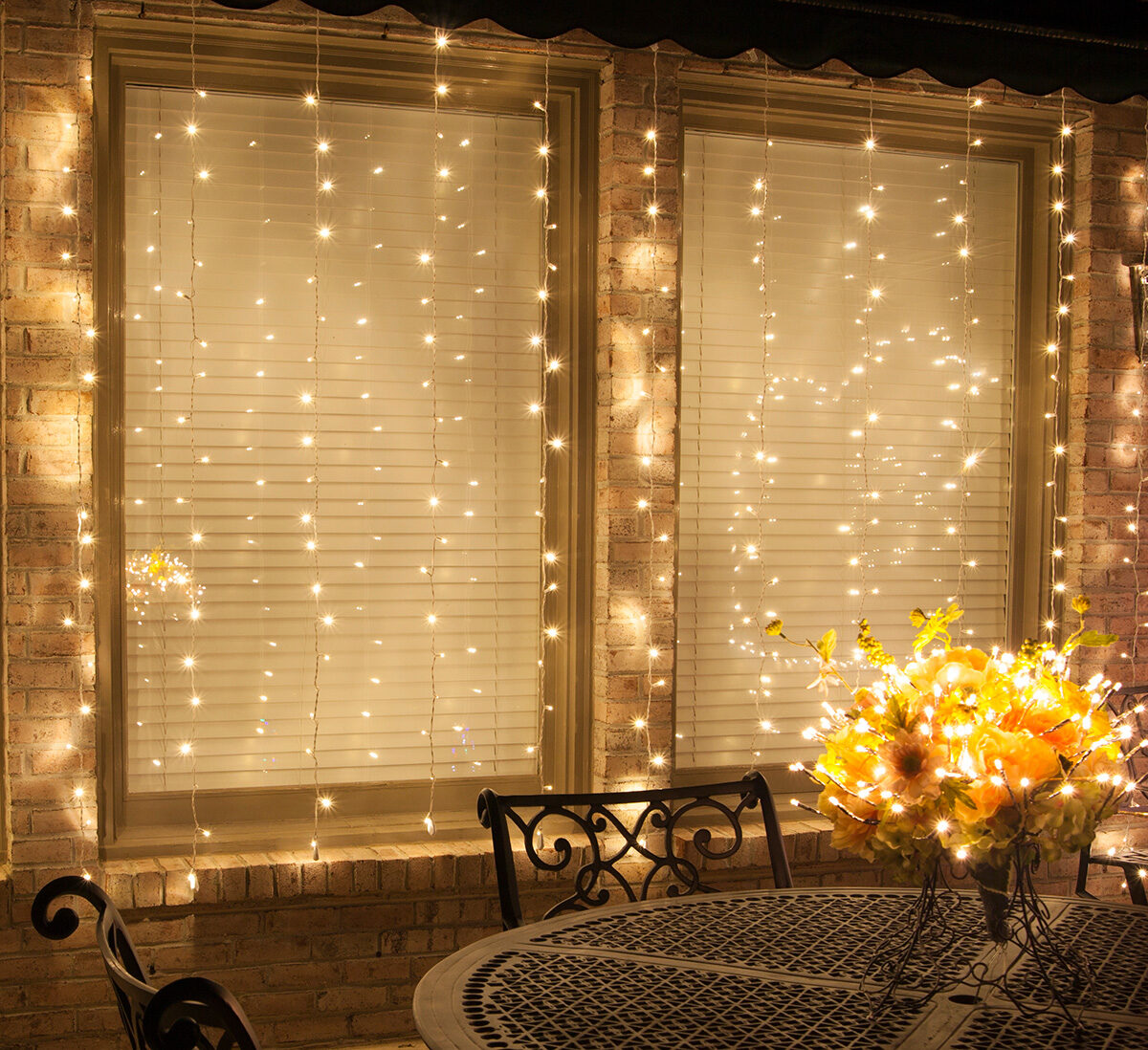 DIY Curtain Lights using LED Mini String Lights