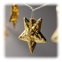 LED Golden Metal Star String Lights