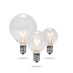 Transparent Globe Light Bulbs